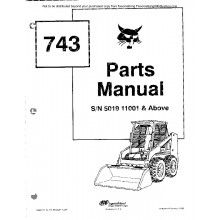 Bobcat 743 Skid Steer Loader Parts Manual PDF