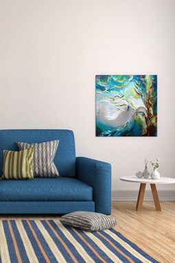 Breeze by J.A Art Canvas Print
