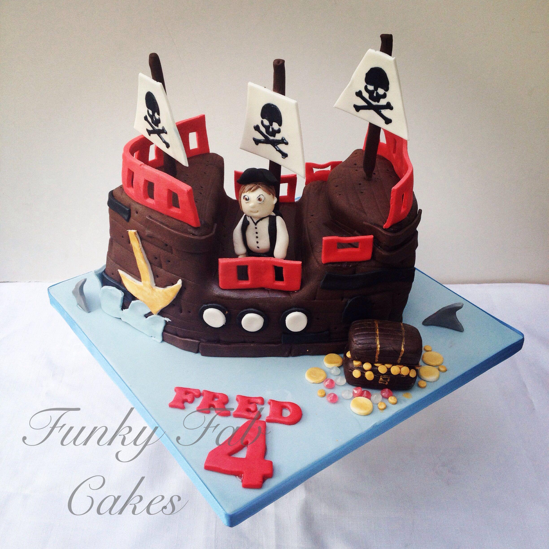 Pirate ship birthday cake My cakes Funky Fab Cakes Portfolio by