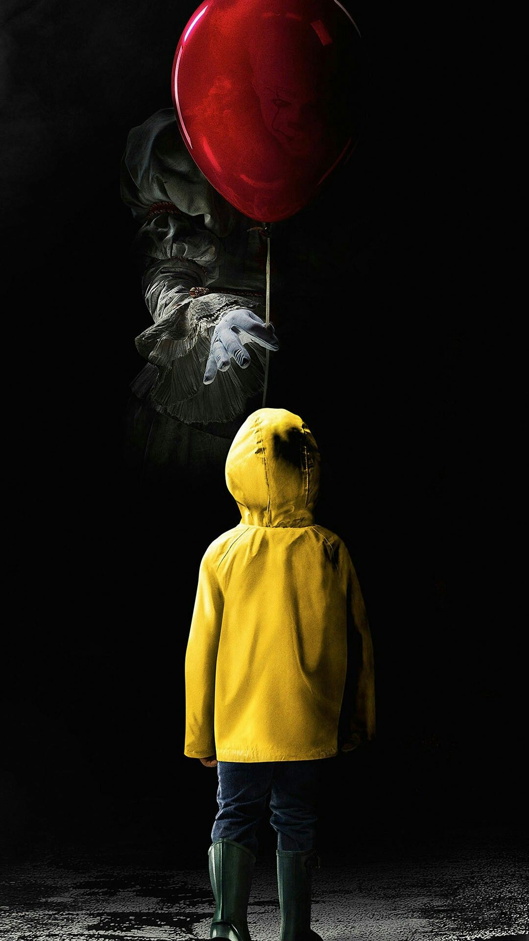Penny Wise Horror Movie Art Dark Wallpaper Black Wallpaper Iphone