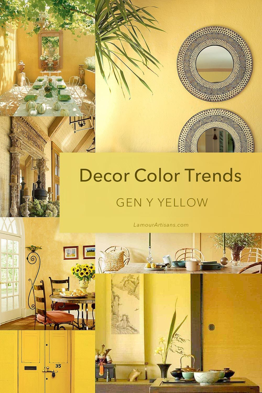Interior Decor Color Trends For 2020 Yellow Wall Decor Yellow