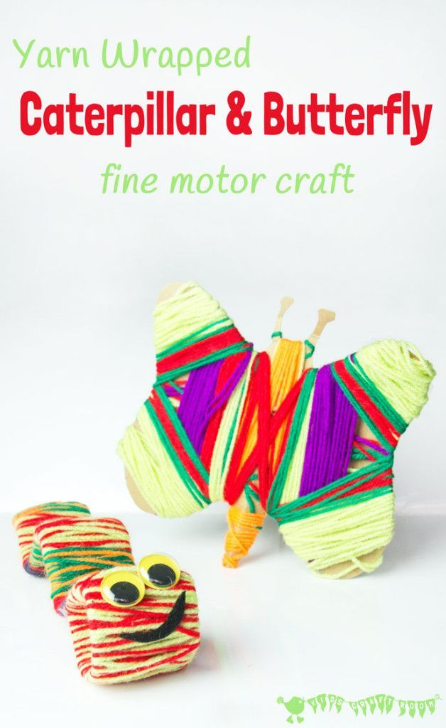 Caterpillar and butterfly craft butterfly crafts motor for Butterfly hands craft