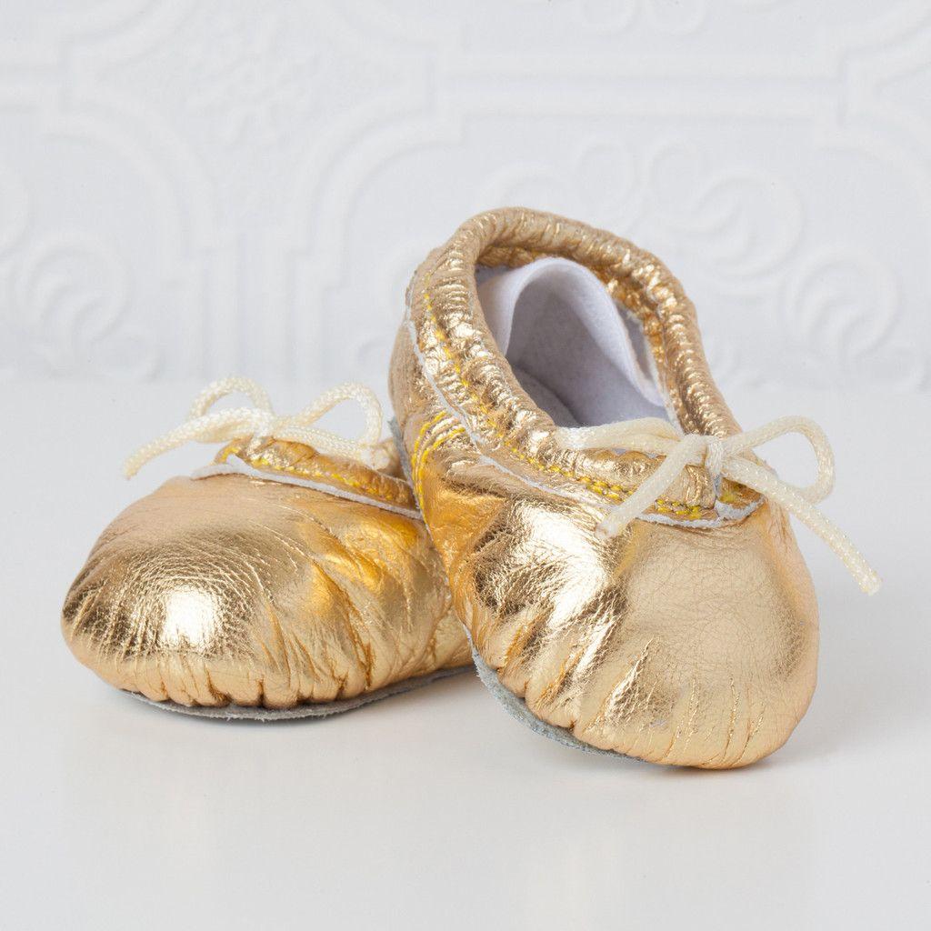 Gold Baby Ballet Slippers | Baby ballet