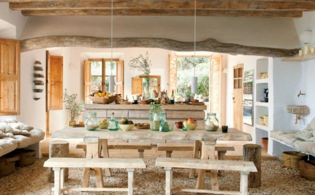 möbel landhausstil rustikales esszimmer einrichten Quincho