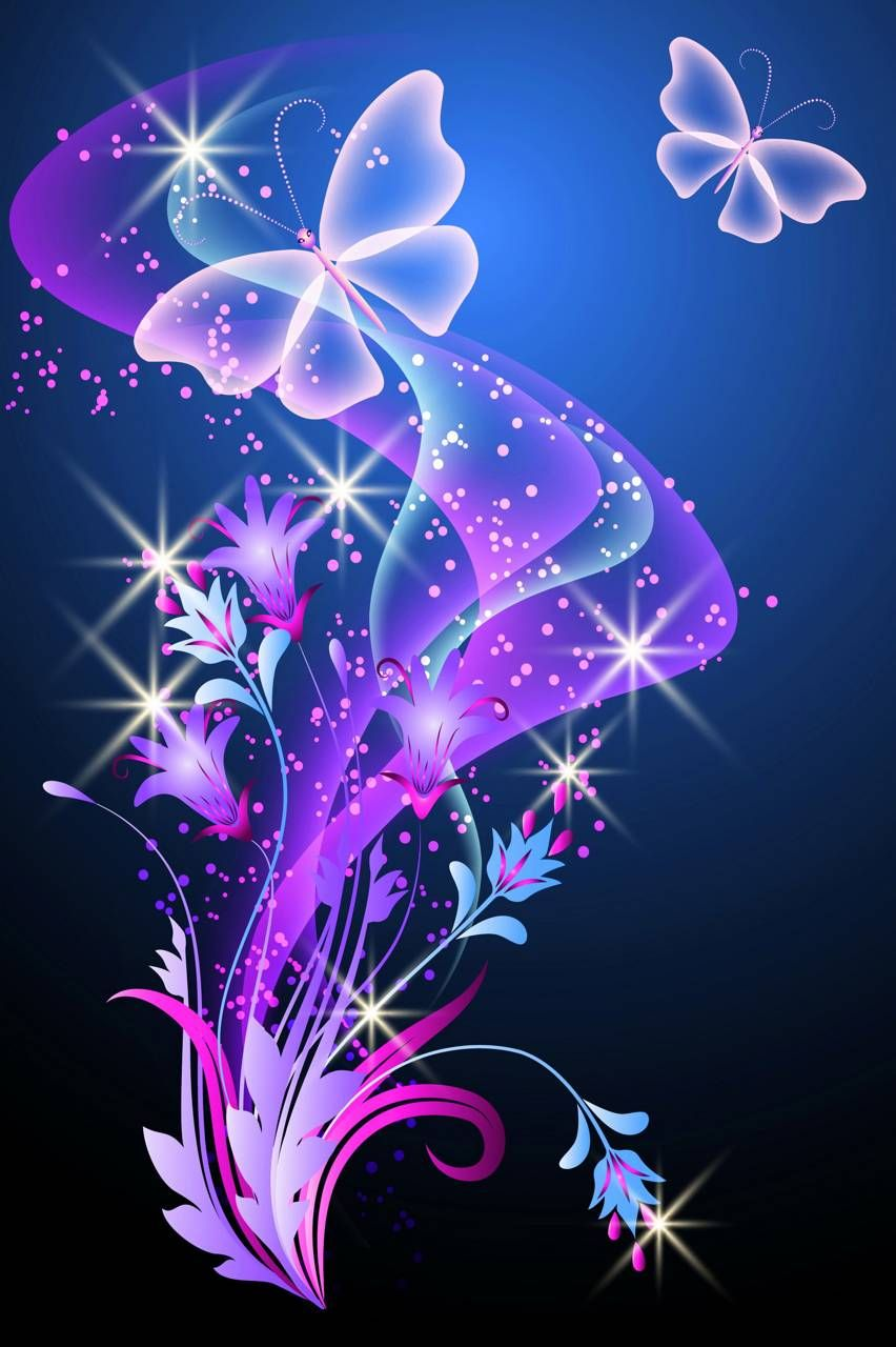 Abstract Butterflies Butterfly wallpaper, Glowing