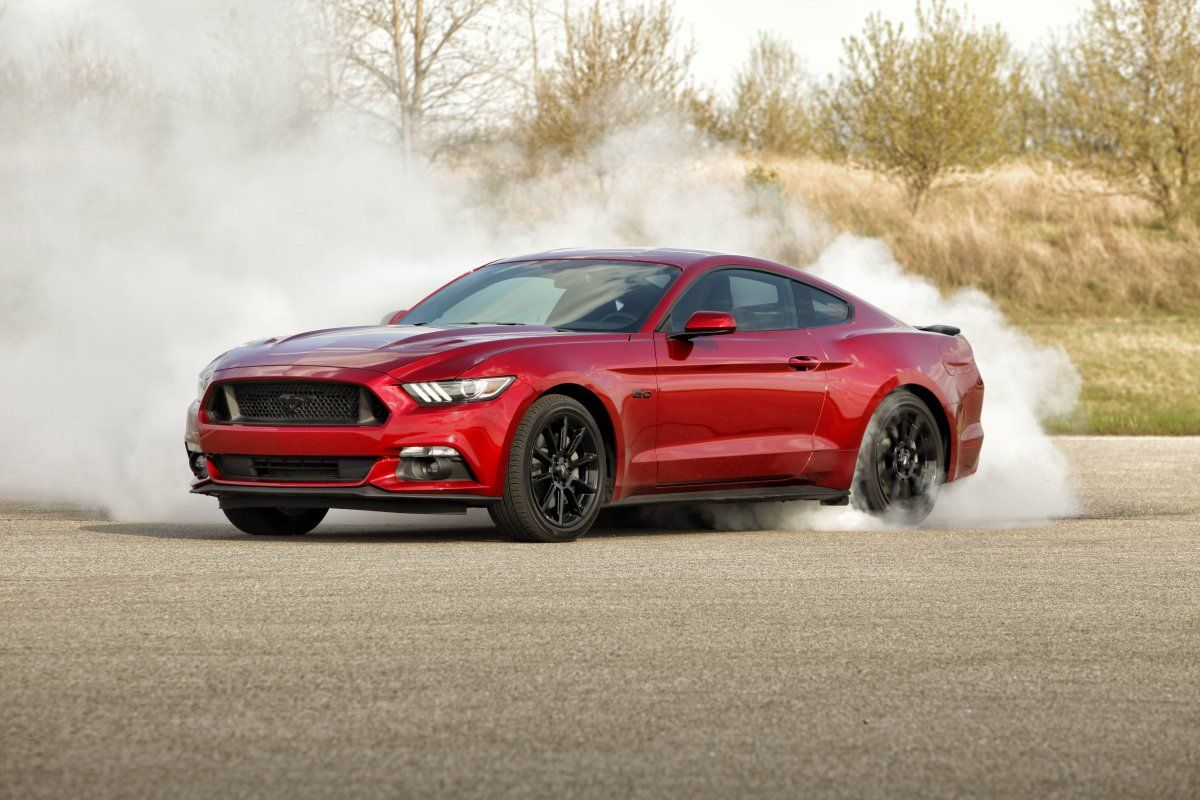 Step things up with the Mustang GT, which has a 5-liter V8 engine that sounds just like a Mustang should.