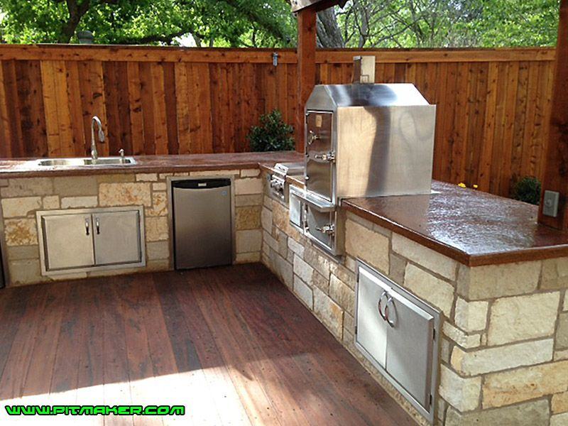 lot picture outdoor kitchen outdoor smoker smoker kitchen on outdoor kitchen with smoker id=83541