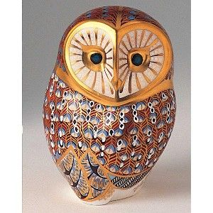 Royal Crown Derby Barn Owl Paperweight
