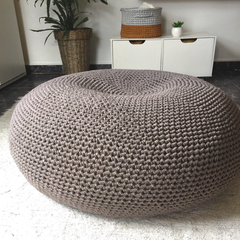 Giant Pouf Ottoman Extra Large Floor Cushion Bean Bag