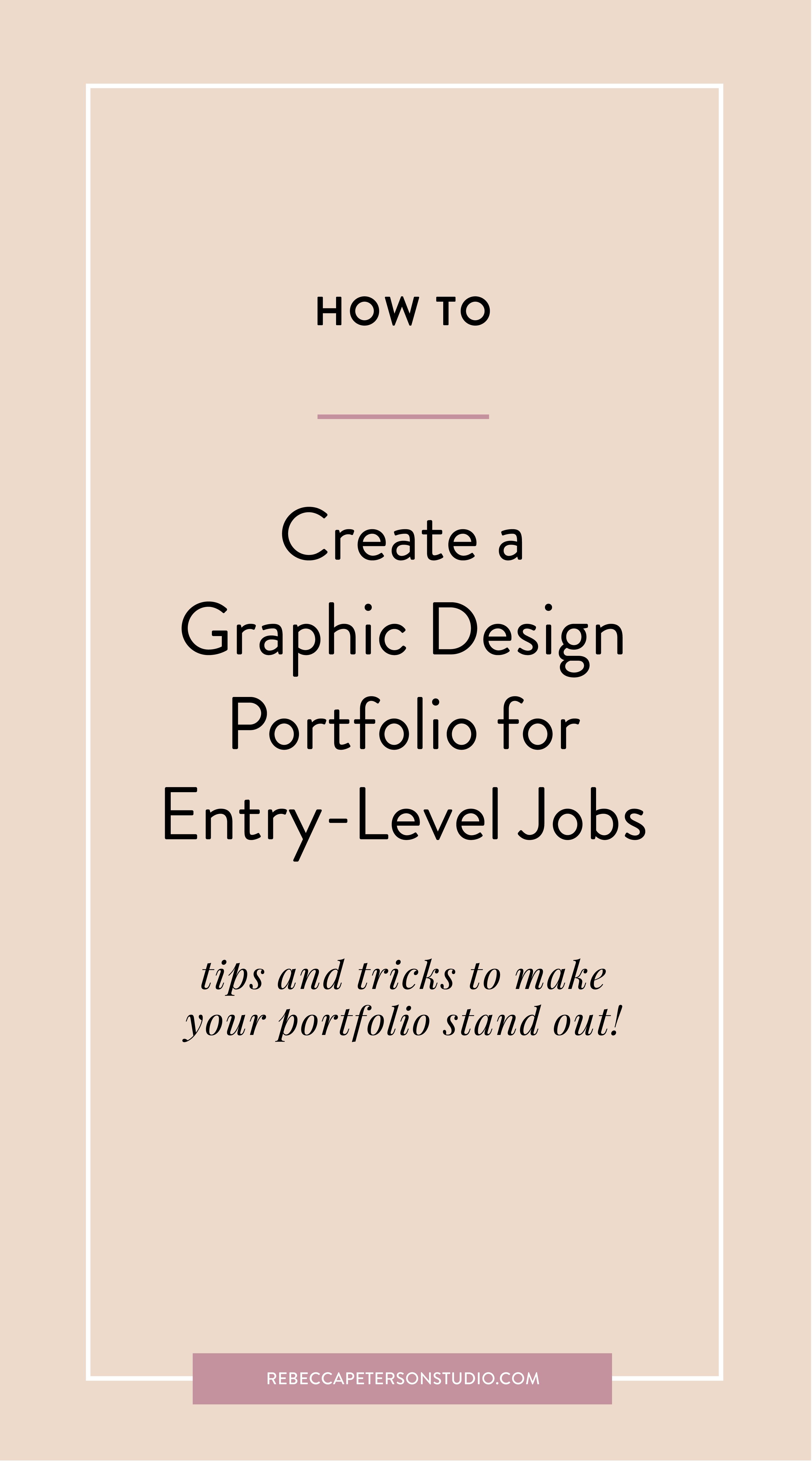 How To Create A Graphic Design Portfolio For Entry Level Jobs Rebecca Peterson Studio Graphic Design Portfolio Layout Portfolio Design Graphic Design Business