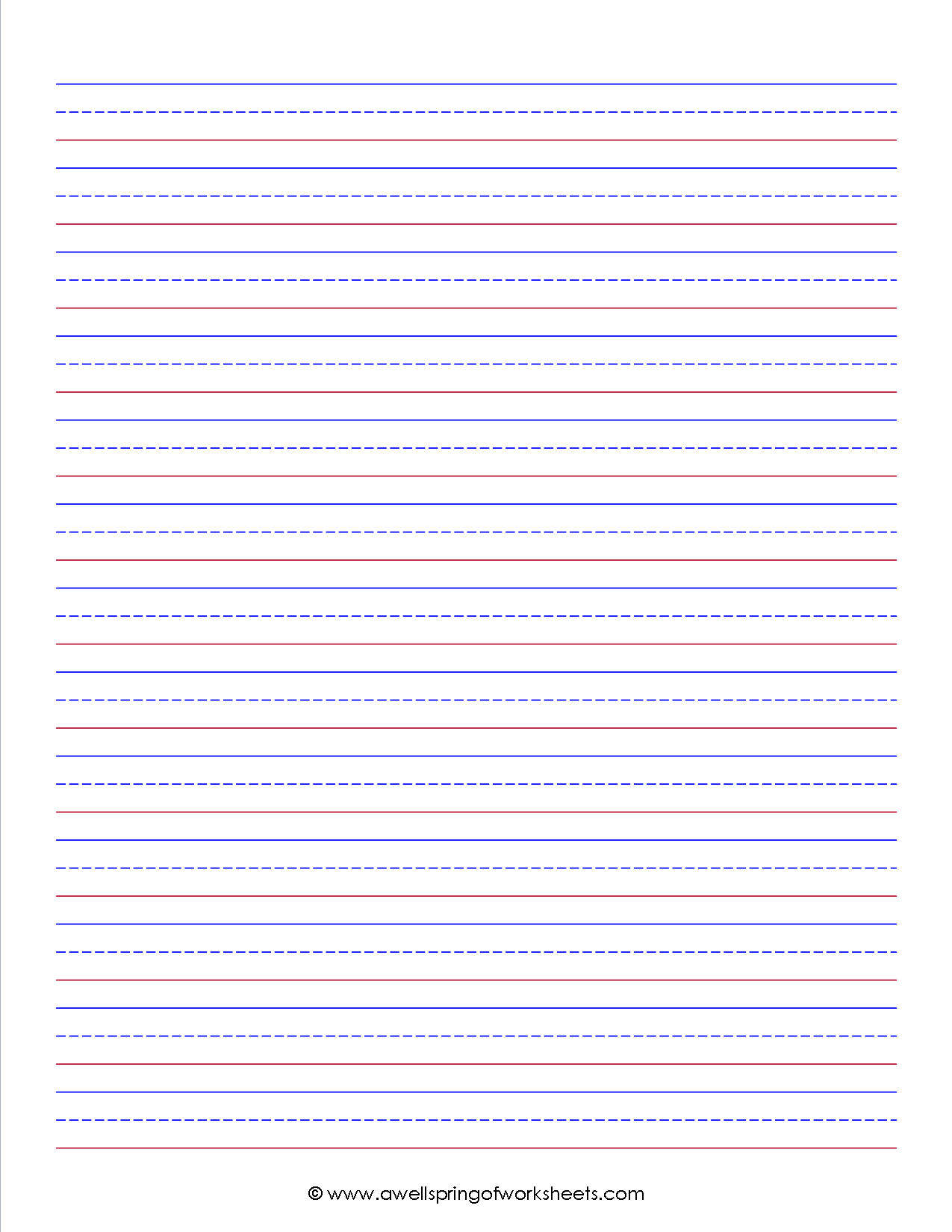 free writing paper printable kids stationery primary lined writing