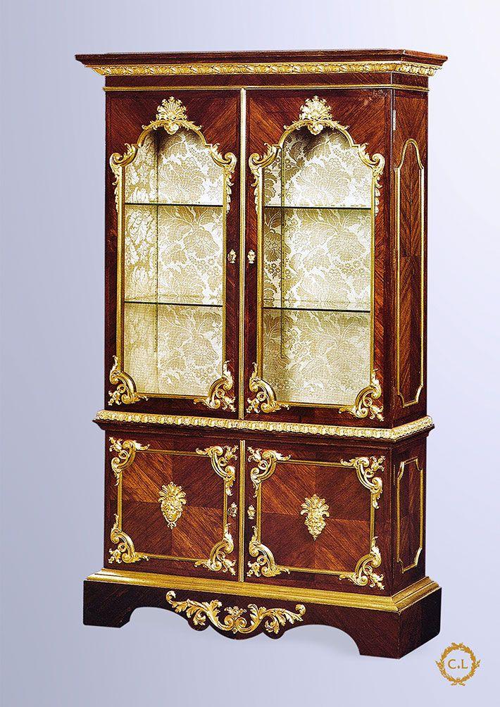 135-Vitrine de style Louis XIV « Reproduction Sormani » | 19th C ...