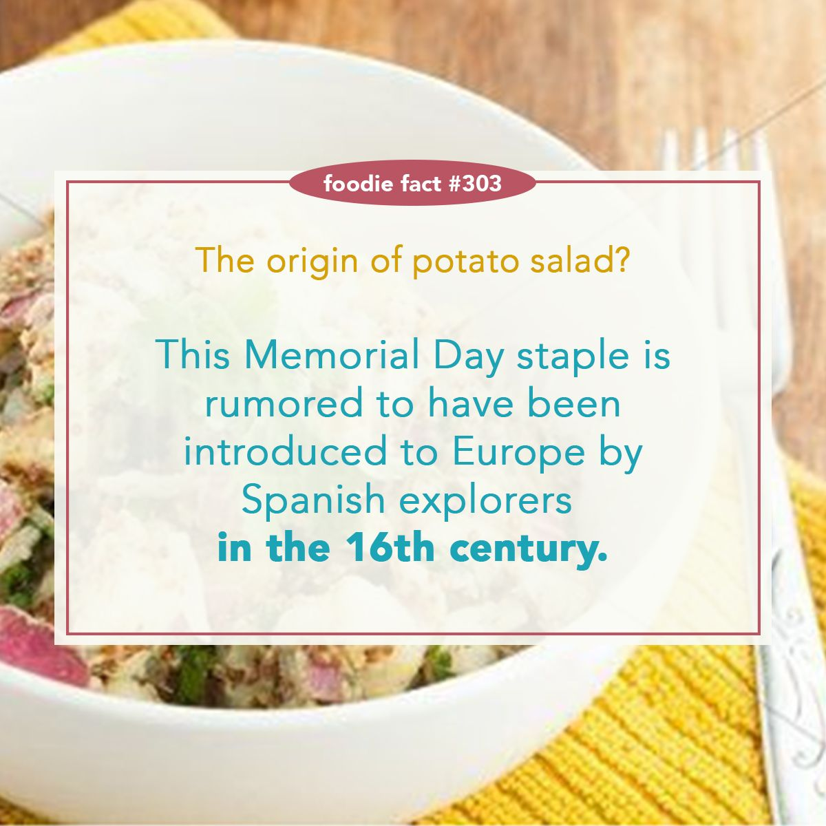 Nothing says Memorial Day like potato salad. | Foodie Facts ...