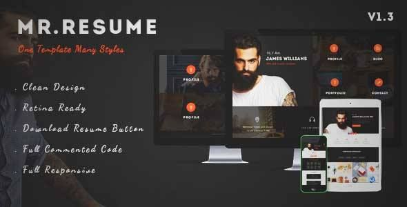 Download and review of Morgan - Resume, vCard, Personal, Profile - wordpress resume themes