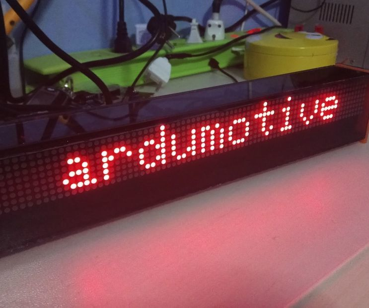 Diy Arduino Led Matrix Display 80x8 Px Arduino Led Led Matrix Arduino Projects Diy