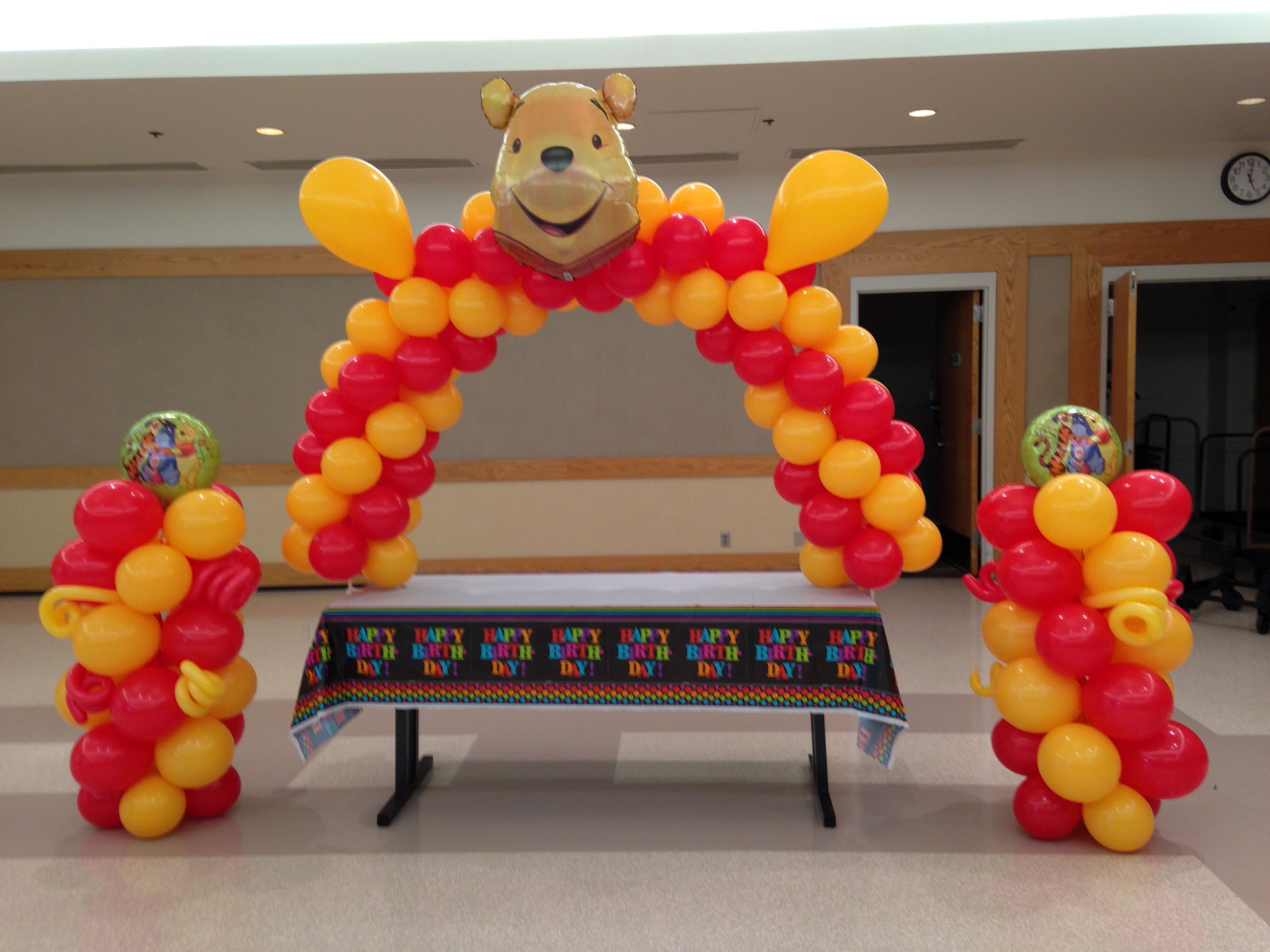 Winnie The Pooh arch and columns Pooh Pinterest
