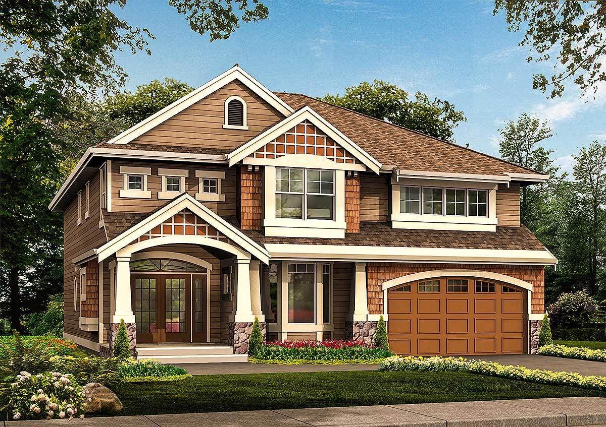 undefined Plan 23062JD Stunning Craftsman Home Plan