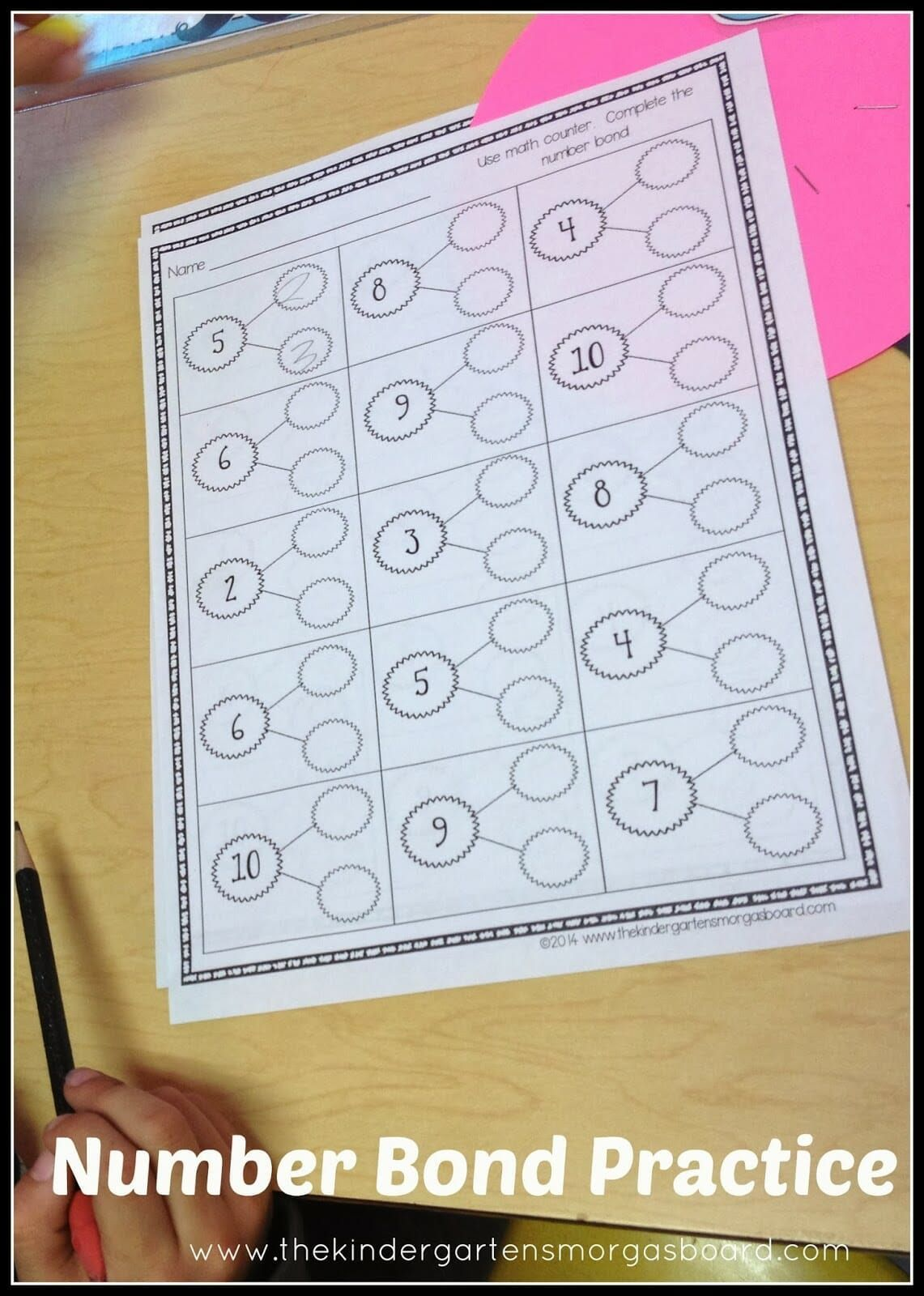 A Kindergarten Lesson Showing How To Use Number Bonds To