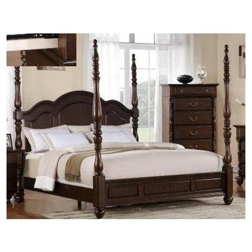 83 H Georgia Dark Walnut Tall Post Traditional Style King Size Bed Frame 00512286 Bedroom Sets Queen Coastal Living Bedroom Traditional Bedroom Furniture Sets
