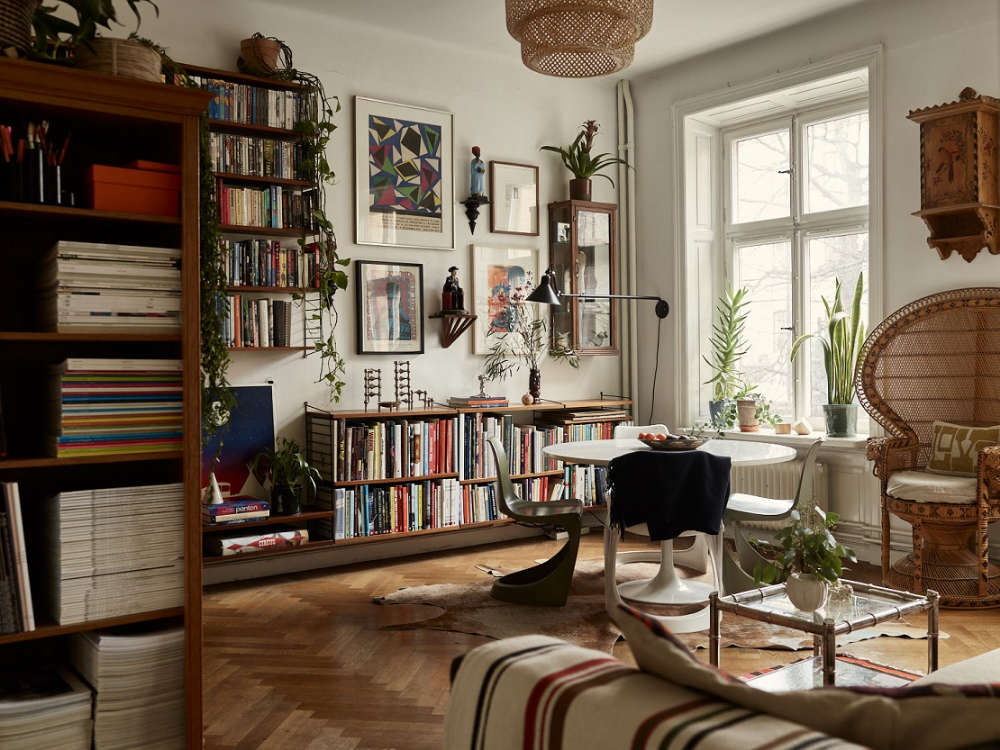 A Small Vintage Bohemian Apartment In Stockholm The Nordroom Home Decor Styles Bohemian Apartment Vintage Apartment