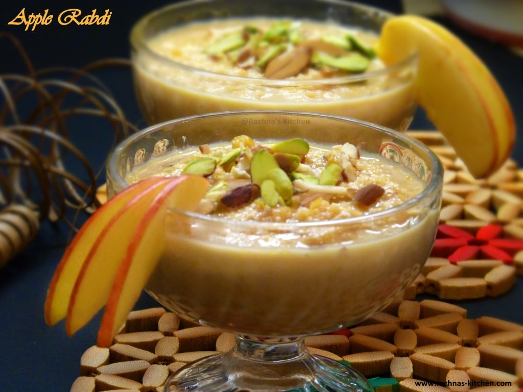 Apple Rabri Kheer Apple Dessert With Condensed Milk Recipe Desserts Indian Desserts Condensed Milk Desserts