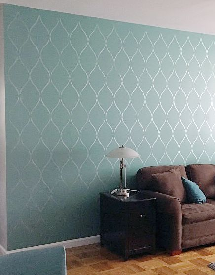 Budget Friendly Ideas To Update Your Home Using Stencils Accent Walls In Living Room Wall Painting Living Room Living Room Decor Modern