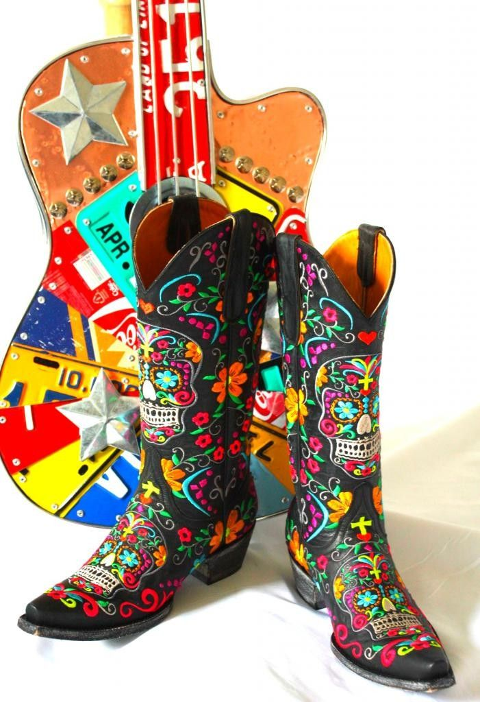 d0464b9583f Old Gringo Klak Colorful Boots - Sugar Skulls, day of the day ...
