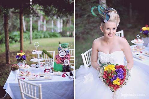 Alice In Wonderland Inspired Shoot #theme #wedding #ideas