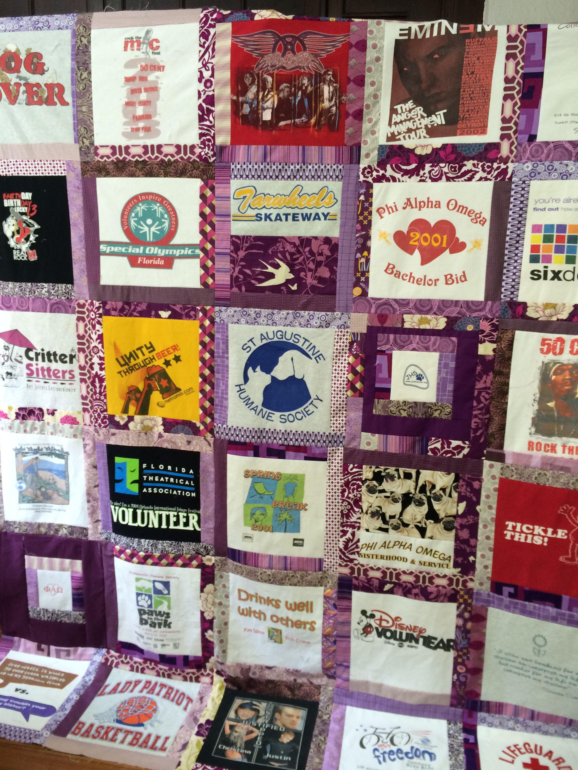 First t shirt quilt done quilts shirt quilt critter