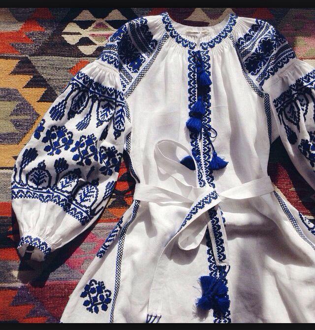 Hippie Ethno Impressionen Folklore Tunika Kleid Schwarz Rot Blau