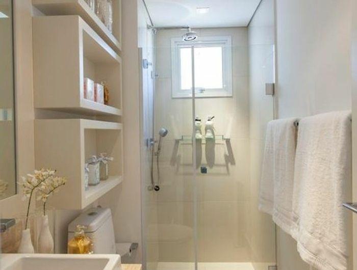 aménager une salle de bain 4m2? - carreaux de verre pour salle de bain