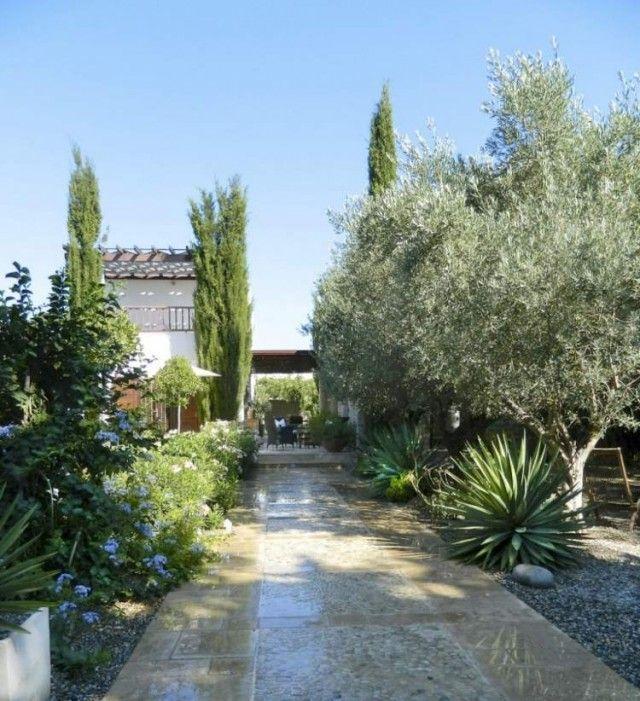 Plantes et aménagement jardin méditerranéen u2013 79 idées - amenagement jardin avec spa