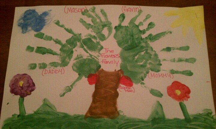 This is fun for the whole family,even your pets. We made a family tree and even put our hermit crab as the apples.