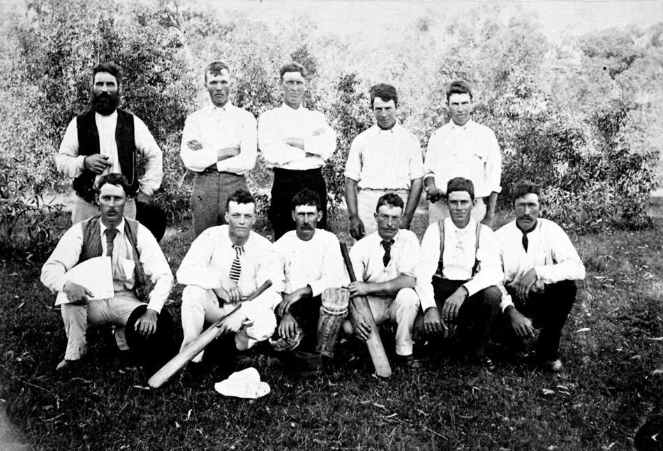 Negative - Cricket Team, St Arnaud District, Victoria, 1899