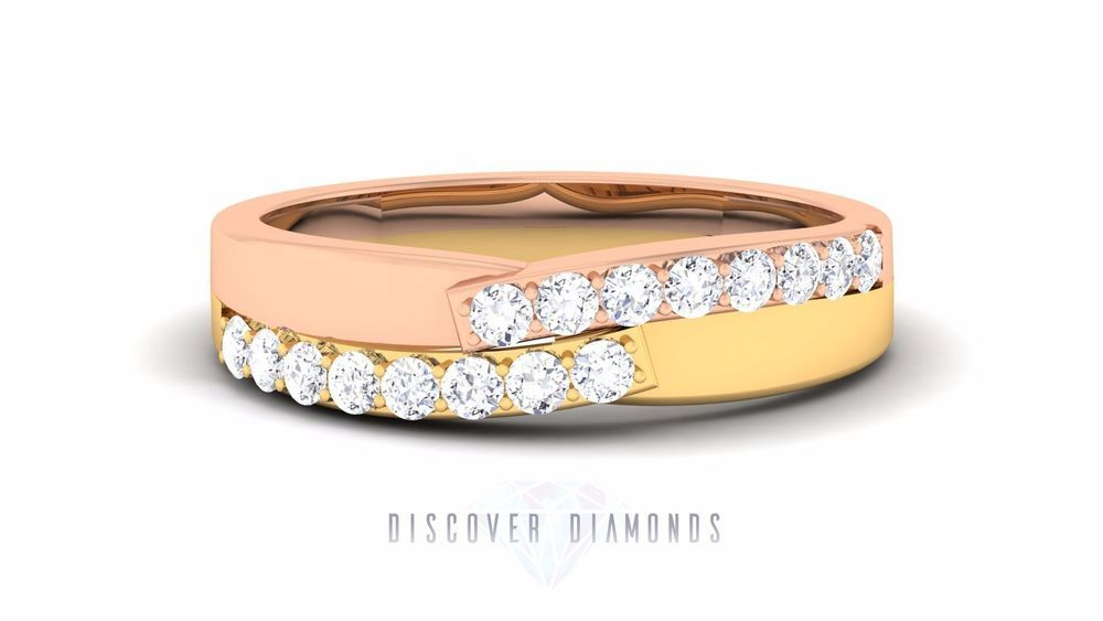 CERTIFIED DIAMOND RING 1.00 CT BAND RING ENGAGEMENT RING SOLID 14 K ROSE GOLD T #DiscoverDiamond #BandRing