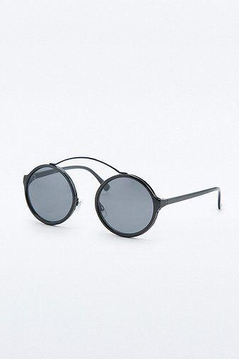 Urban Outfitters Runde Sonnenbrille ohne Nasensteg in