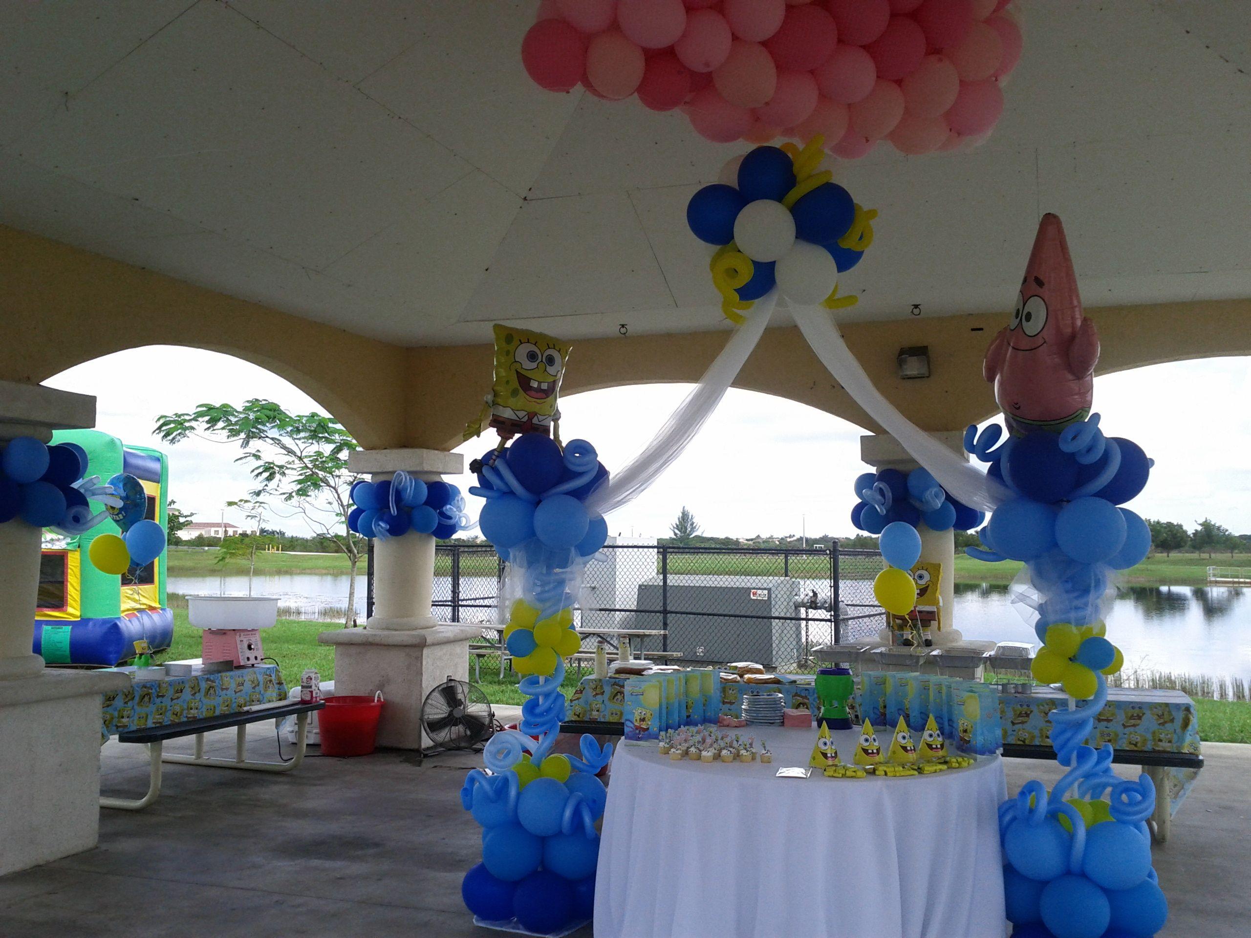 Sponge Bob Theme Balloon Decoration Park Kids Party