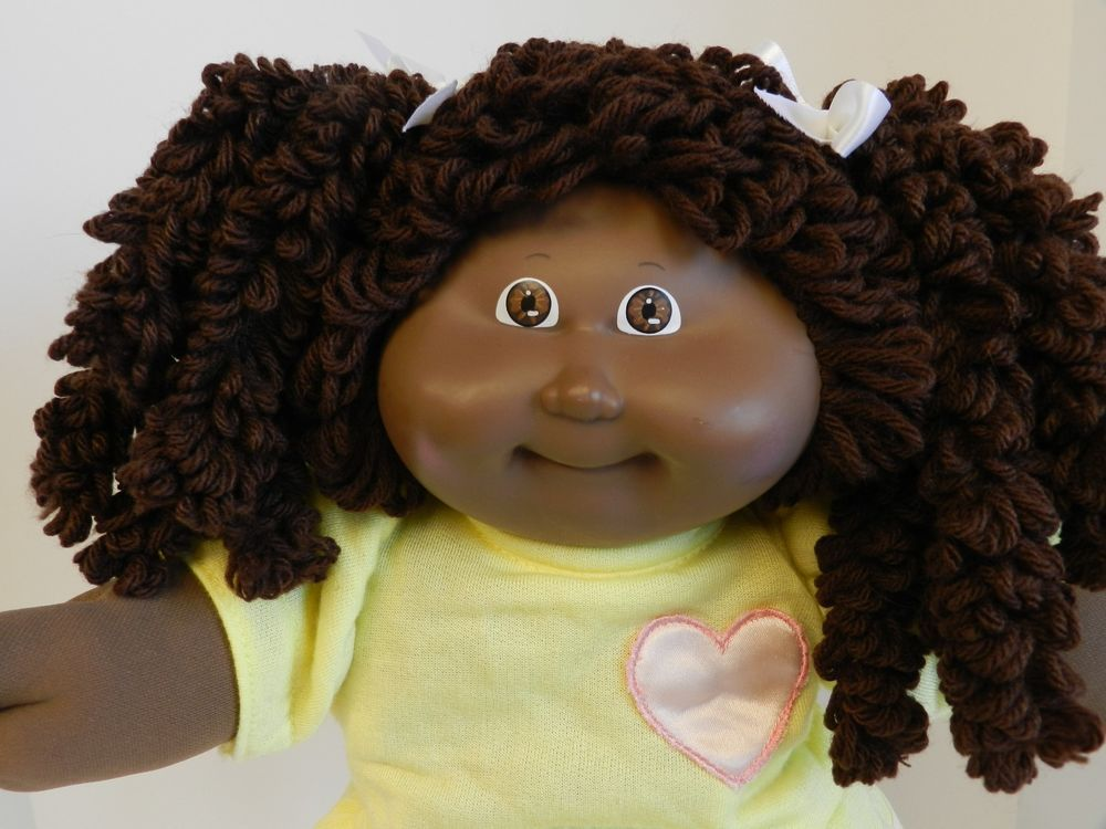 Cabbage Patch Popcorn Doll African American Full Double Ponytails 15 Hm Aa Double Ponytail Cabbage Patch Kids Cabbage Patch