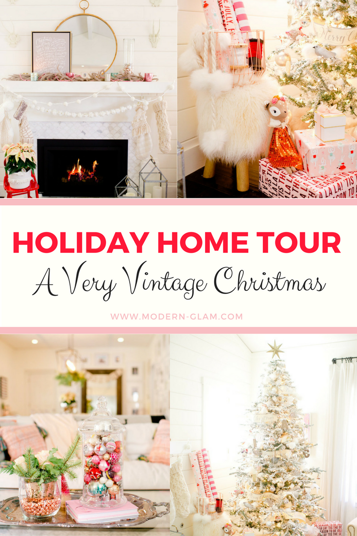 Holiday Home Tour: A Very Vintage Christmas - Fireplace Decorating ...