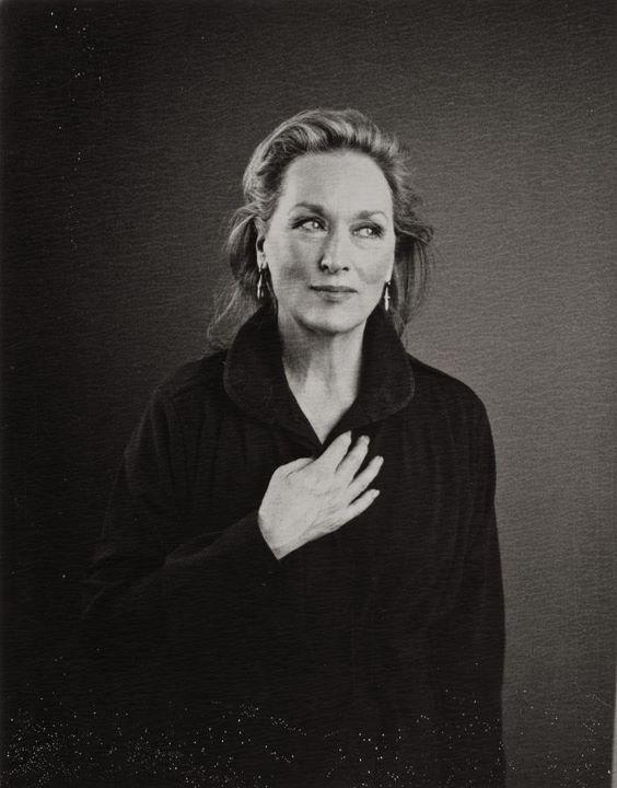 Meryl Streep by Nicolas Guerin (polaroid)