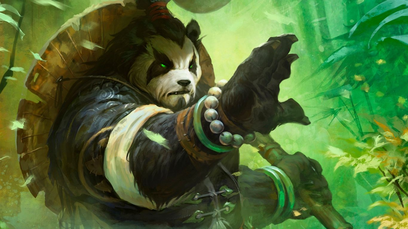 Download Wallpaper 1366x768 World Of Warcraft Mists Of Pandaria