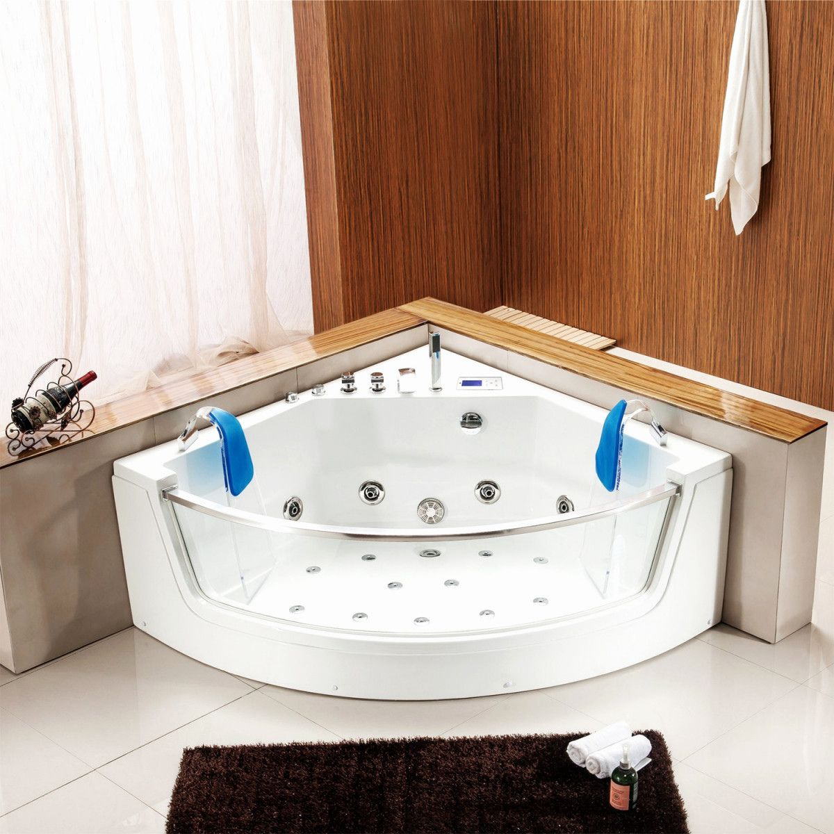 201 Baignoire Douche Avec Porte Pas Cher 2020 Corner Bathtub Bathtub Bathroom