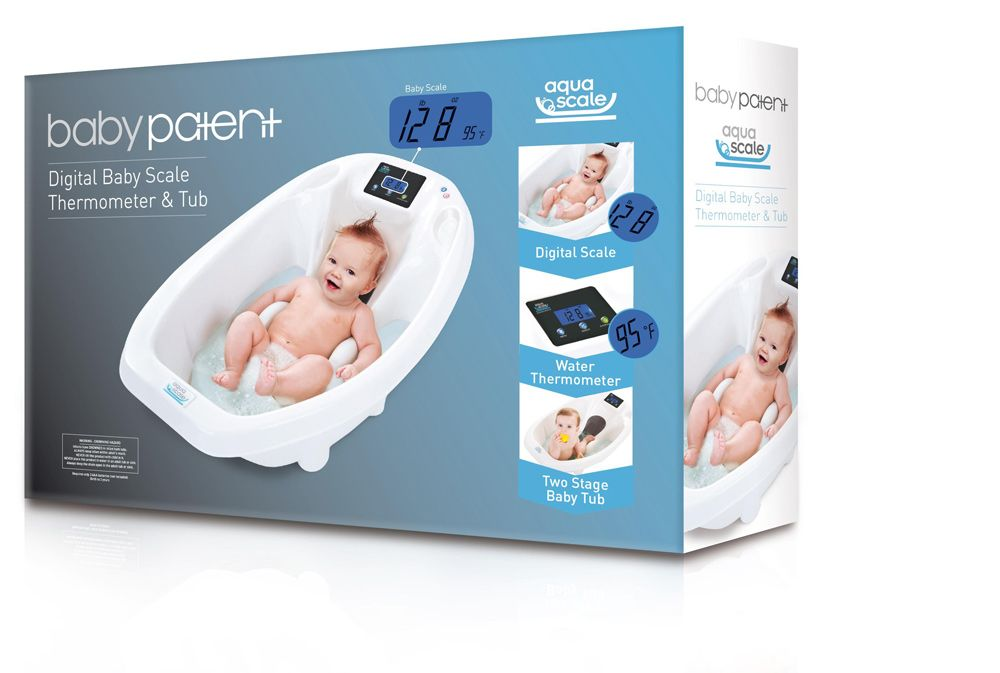 The box of the Aquascale™ 3-In-1 Digital Baby Bath. Buy Now at ...