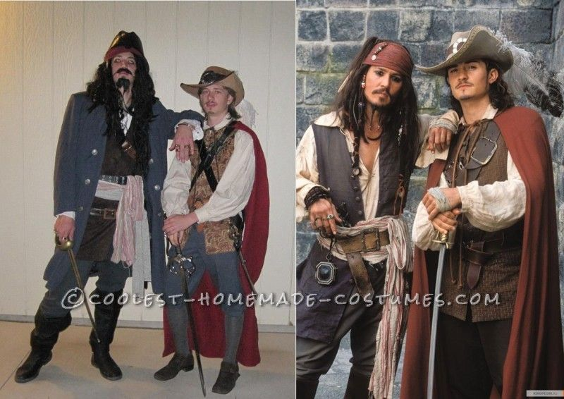 4c4154f50 Cool Homemade Pirates of Carribean Group Costume: Will Turner and ...