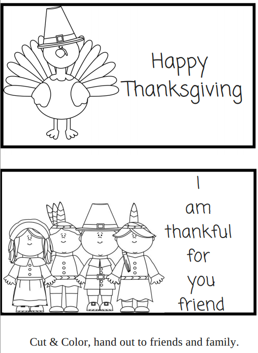 Happy Thanks Giving I\'m Thankful for you friend FREE PRINTABLE ...