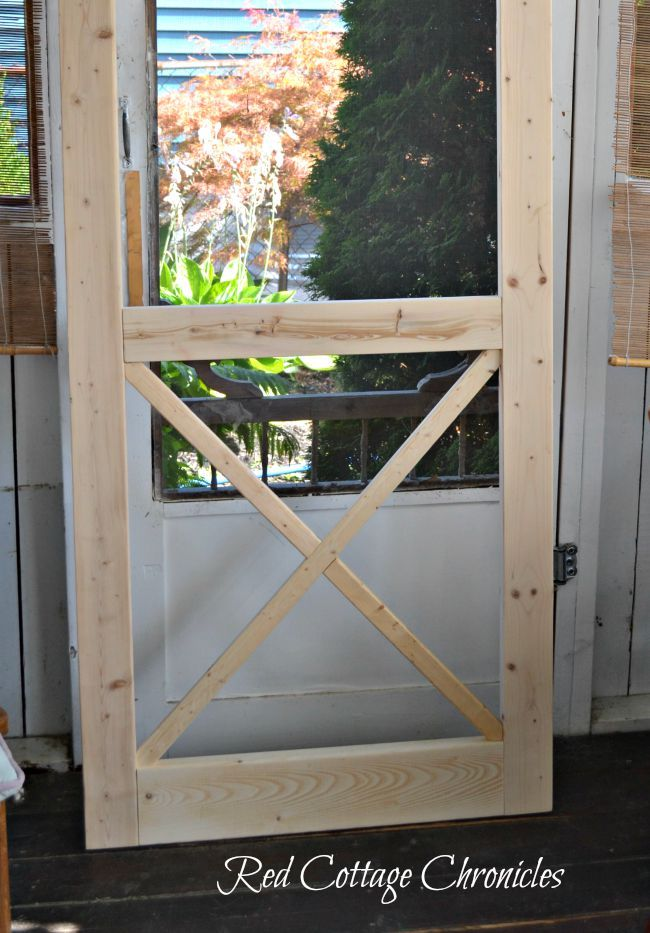 Diy Wood Screen Door Tutorial Diy Screen Door Wood Screen Door Wooden Screen Door