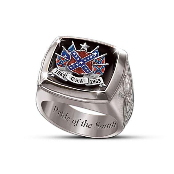 Civil War Commemorative Ring Rings For Men Sterling Silver Mens Sterling Silver Rings