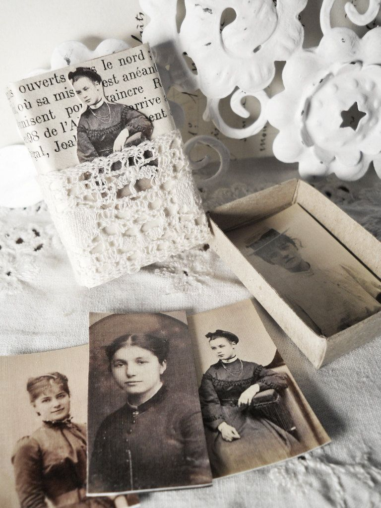 Altered Matchbox with Faux Tintypes Victorian & by Parisgal56