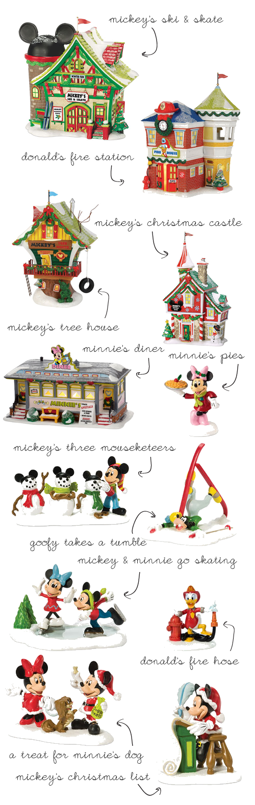 Dept 56 Disney Village!....i would love to paint something like ...