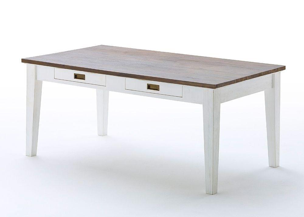 Esstisch Clement Holz Akazie Weiß 6098 Buy now at    www - runder küchentisch weiß